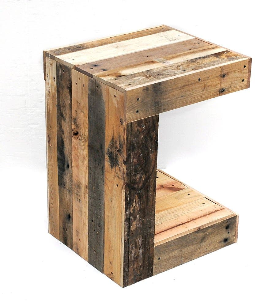 Simple Reclaimed Wood Side Table