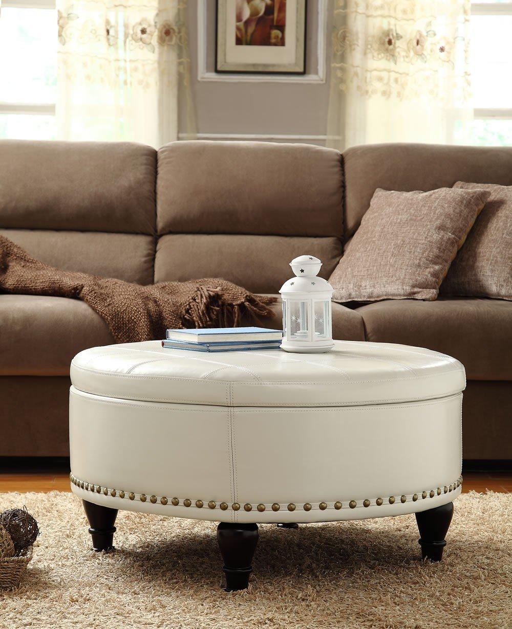 Simple Round Ottoman Coffee Table