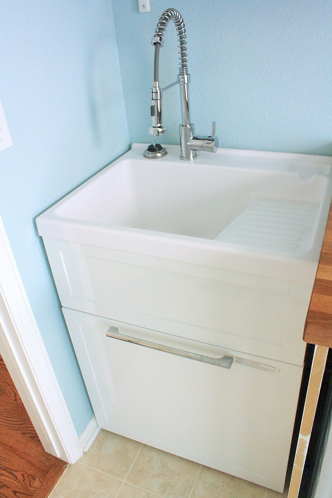 Simple Utility Sink Cabinet