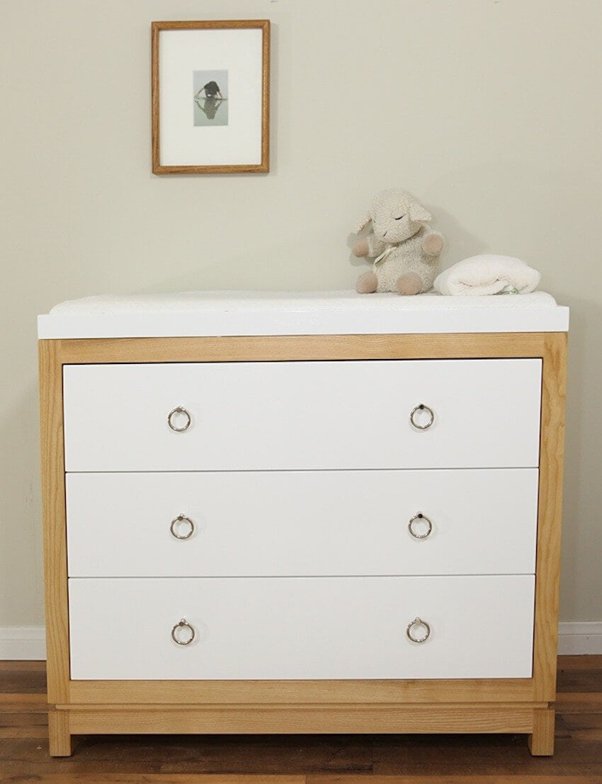 Simple White Changing Table Dresser