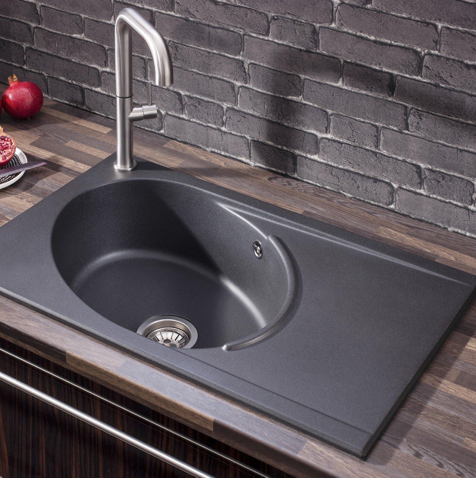 Single Bowl Kitchen Sink Decoration