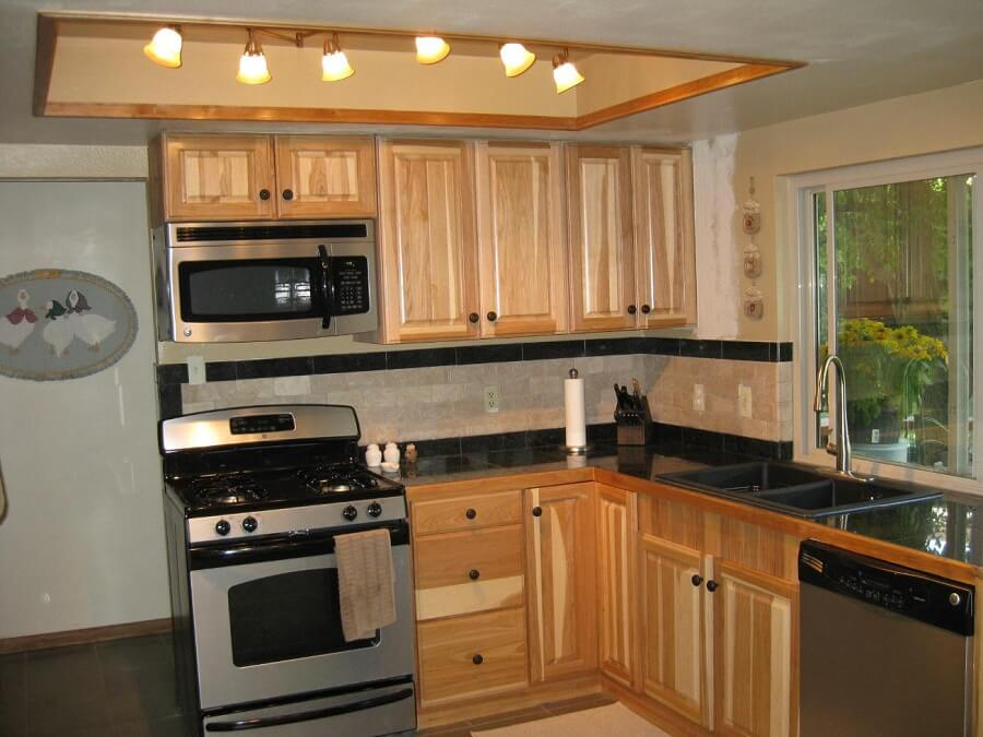 Small Hickory Kitchen Cabinets