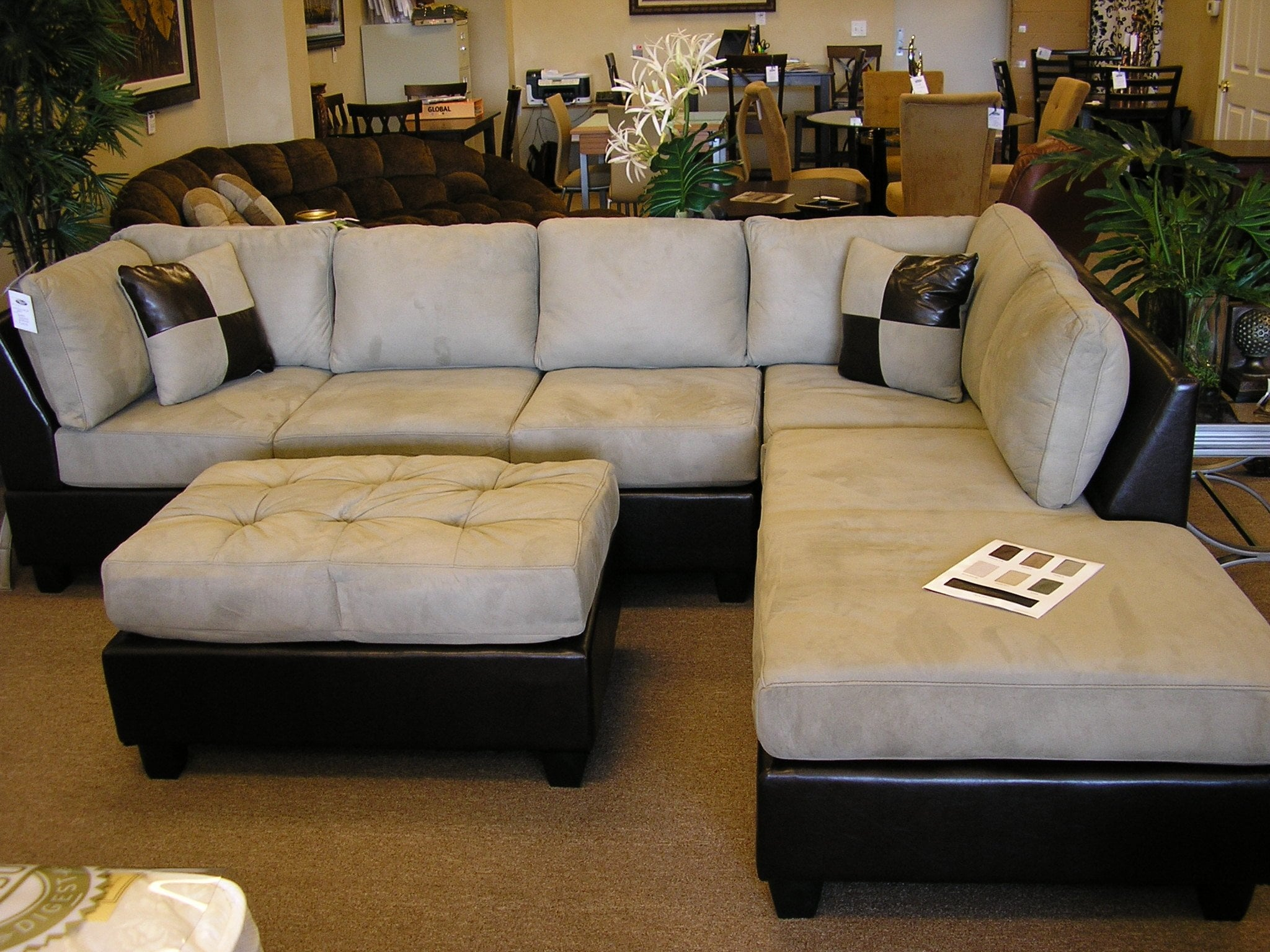 Small Microfiber Sectional Sofa