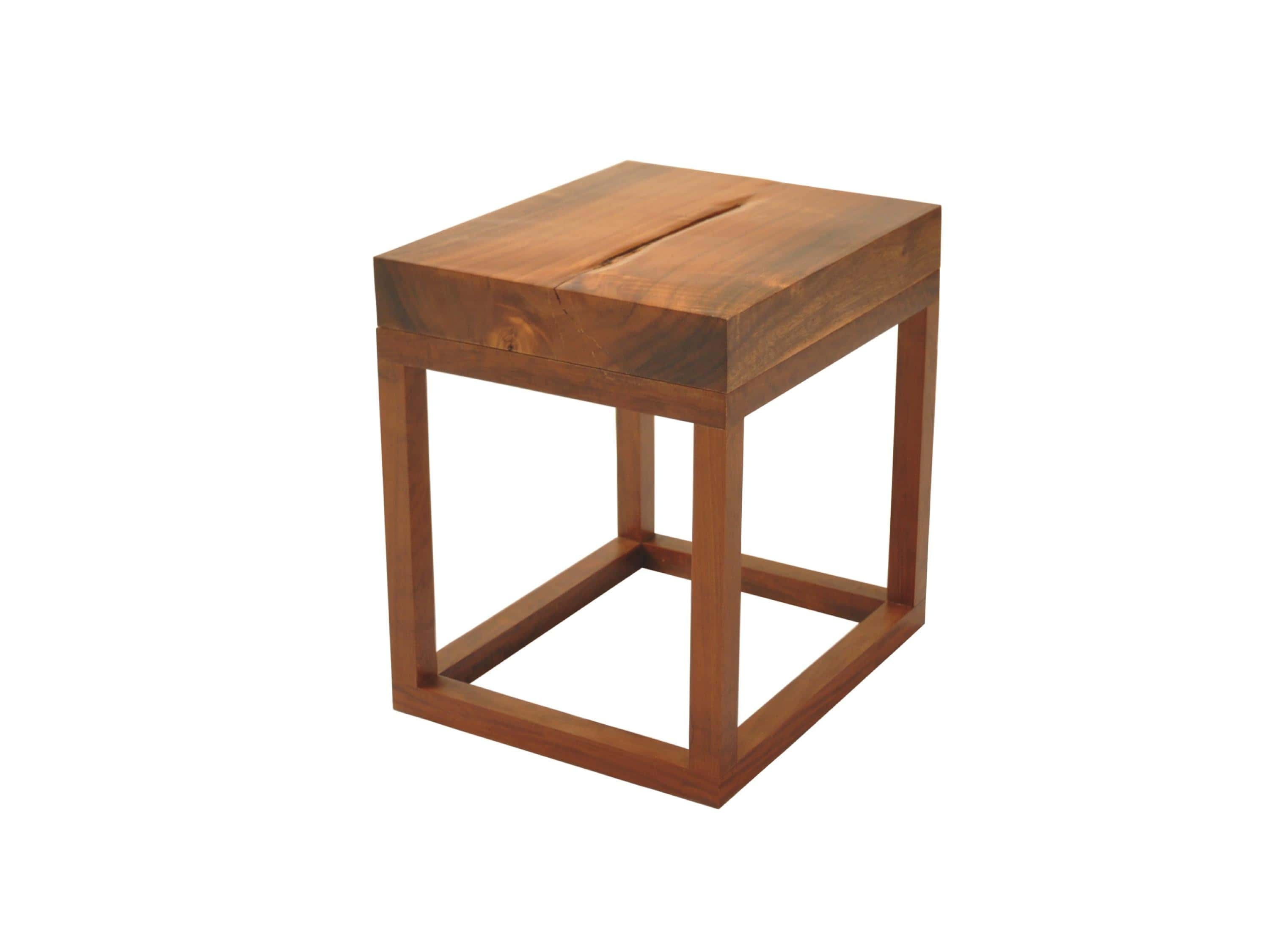 Small Reclaimed Wood Side Table