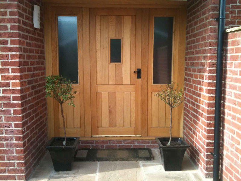 Solid Wood Front Doors With Side Panels Loccie Better