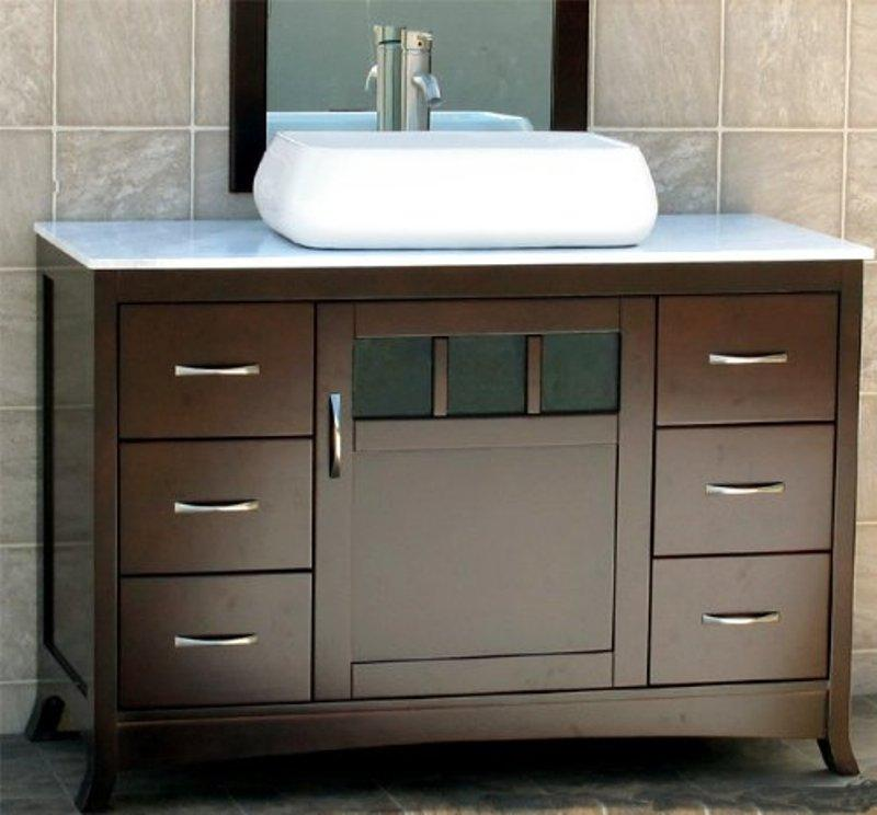 Solid Bathroom Wood Vanity Units