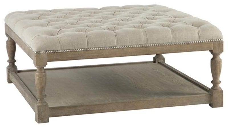 Square Leather Ottoman Coffee Table Designs