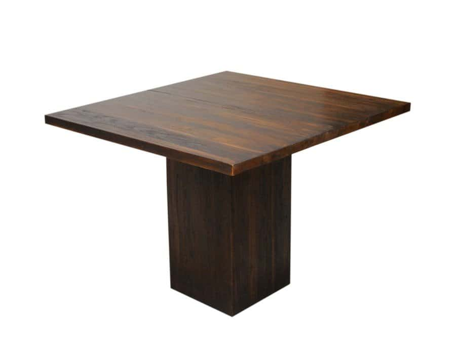 Square Pedestal Dining Table Contemporary