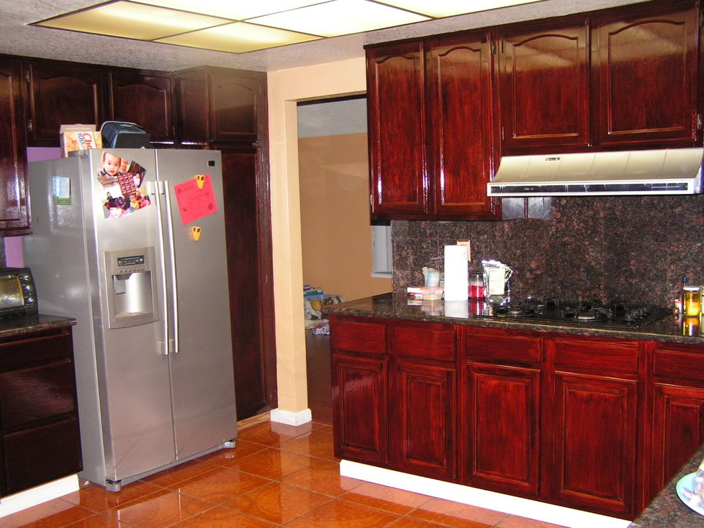Staining-Kitchen-Cabinets-A-Darker-Color