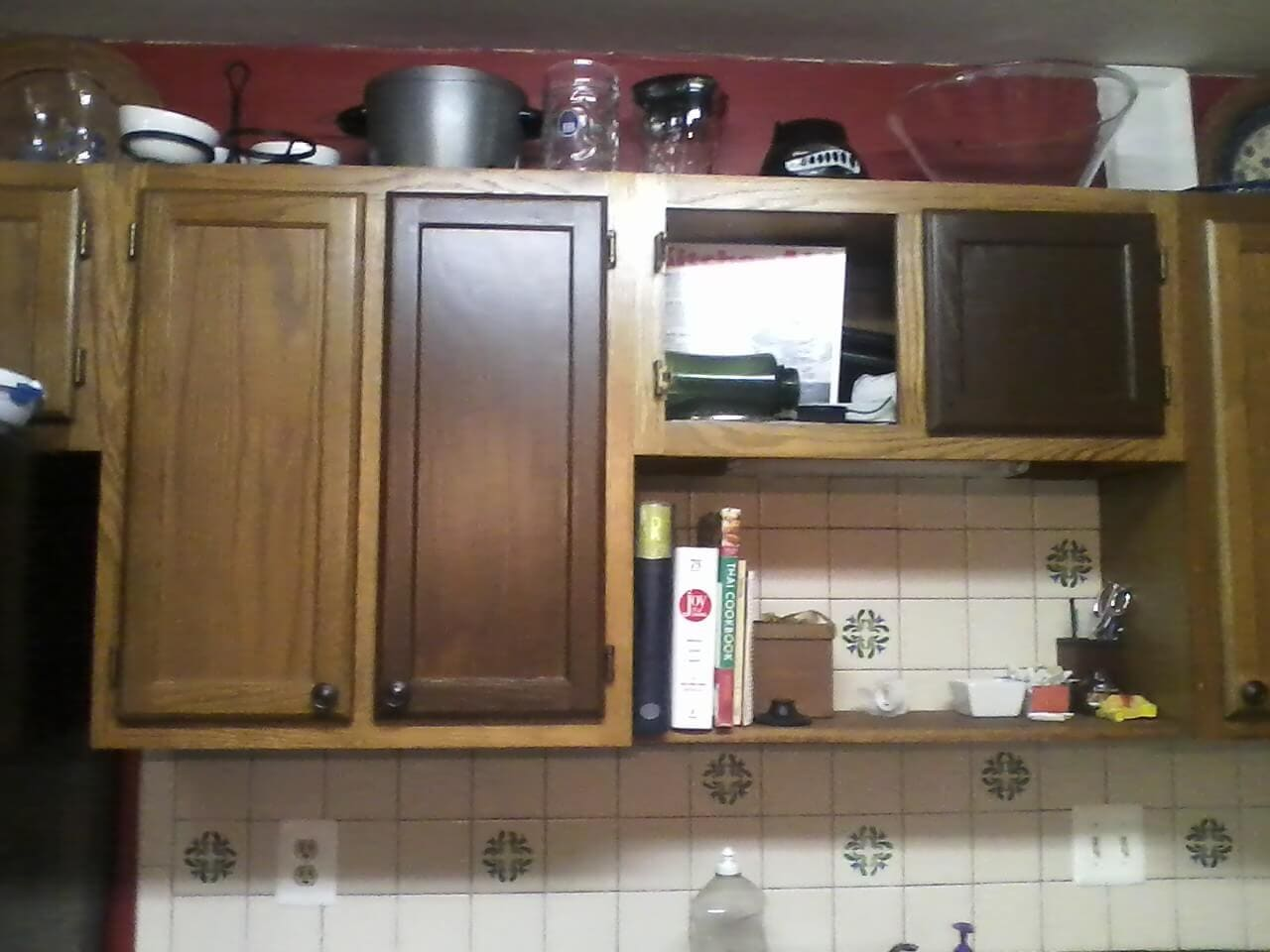 Staining Kitchen Cabinets Design