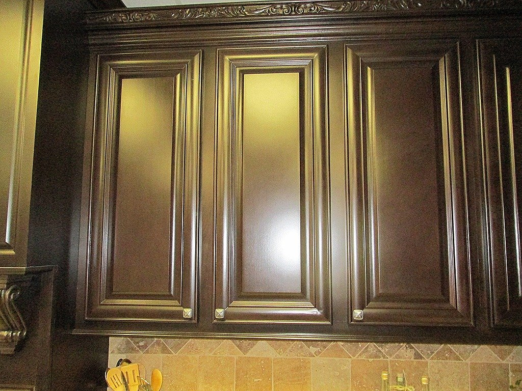 Staining Kitchen Cabinets Gold Color