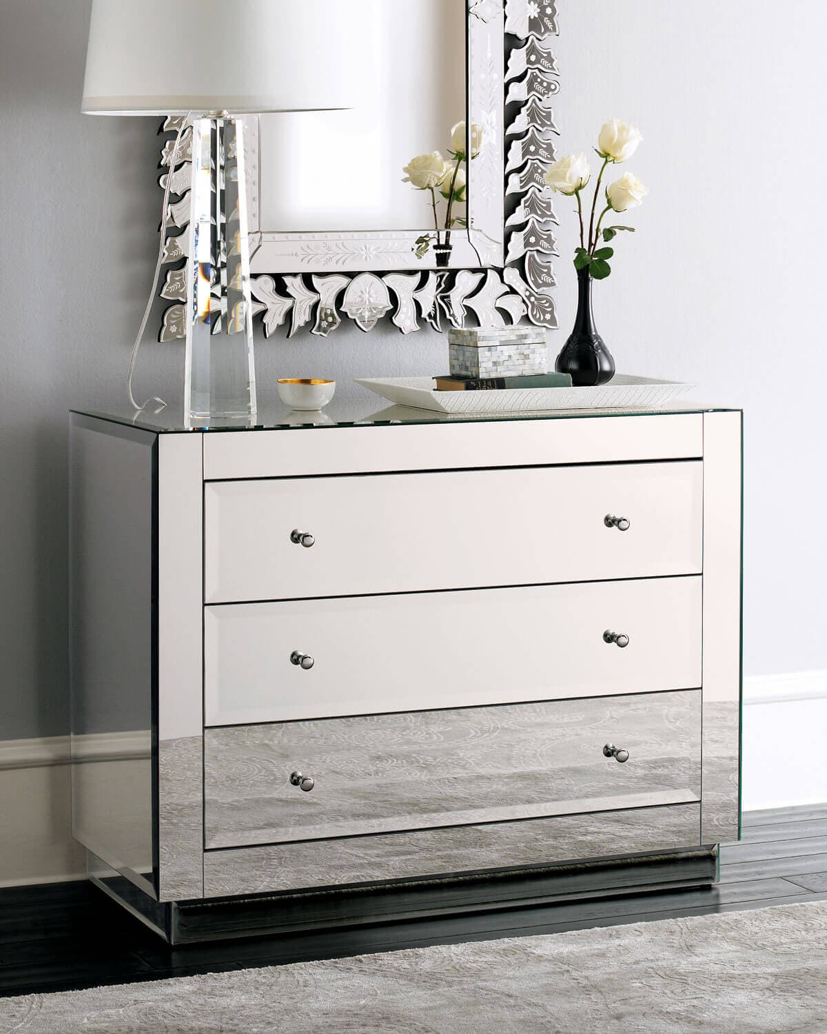 Stunning Mirrored Dresser