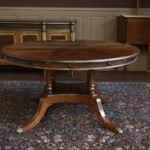Style Round Dining Table With Leaf