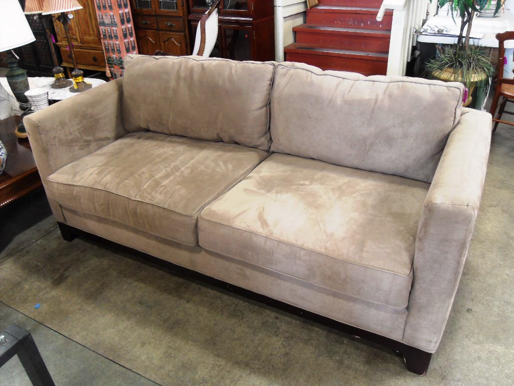 Suede Leather Couch