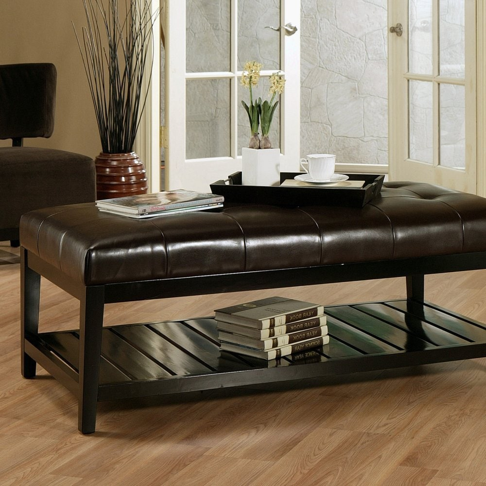 Tips Leather Ottoman Coffee Table