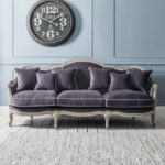 Top Grey Velvet Sofa