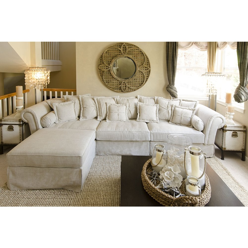Top Linen Sectional Sofa