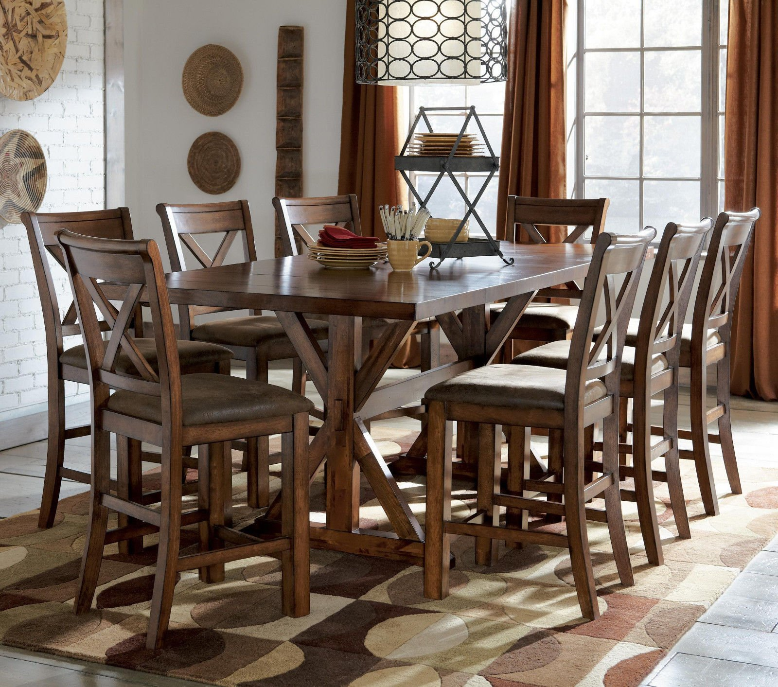Wooden Trestle Dining Table Design