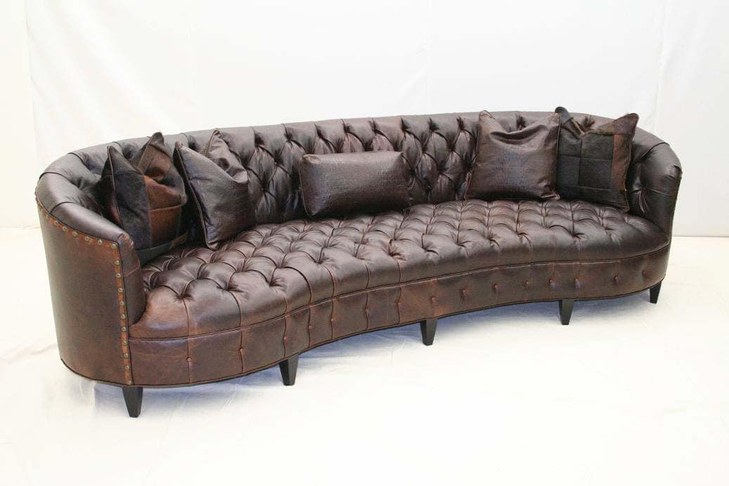 Tufted Curved Sectional Sofa