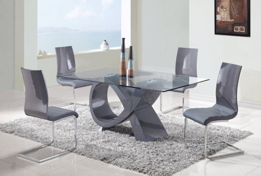 Unique Mirrored Dining Table