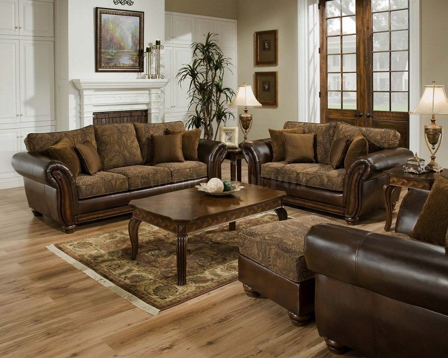 Vintage Leather Sofa And Loveseat
