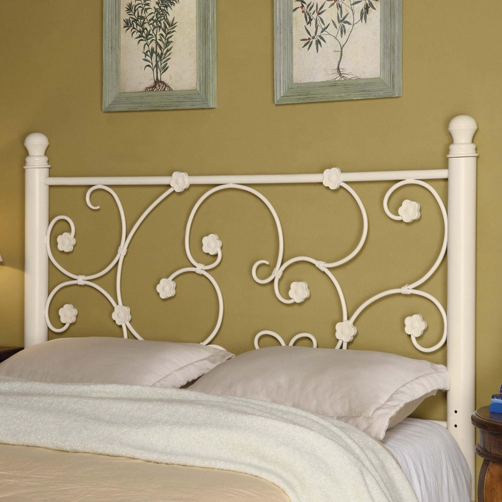 White Iron Headboard