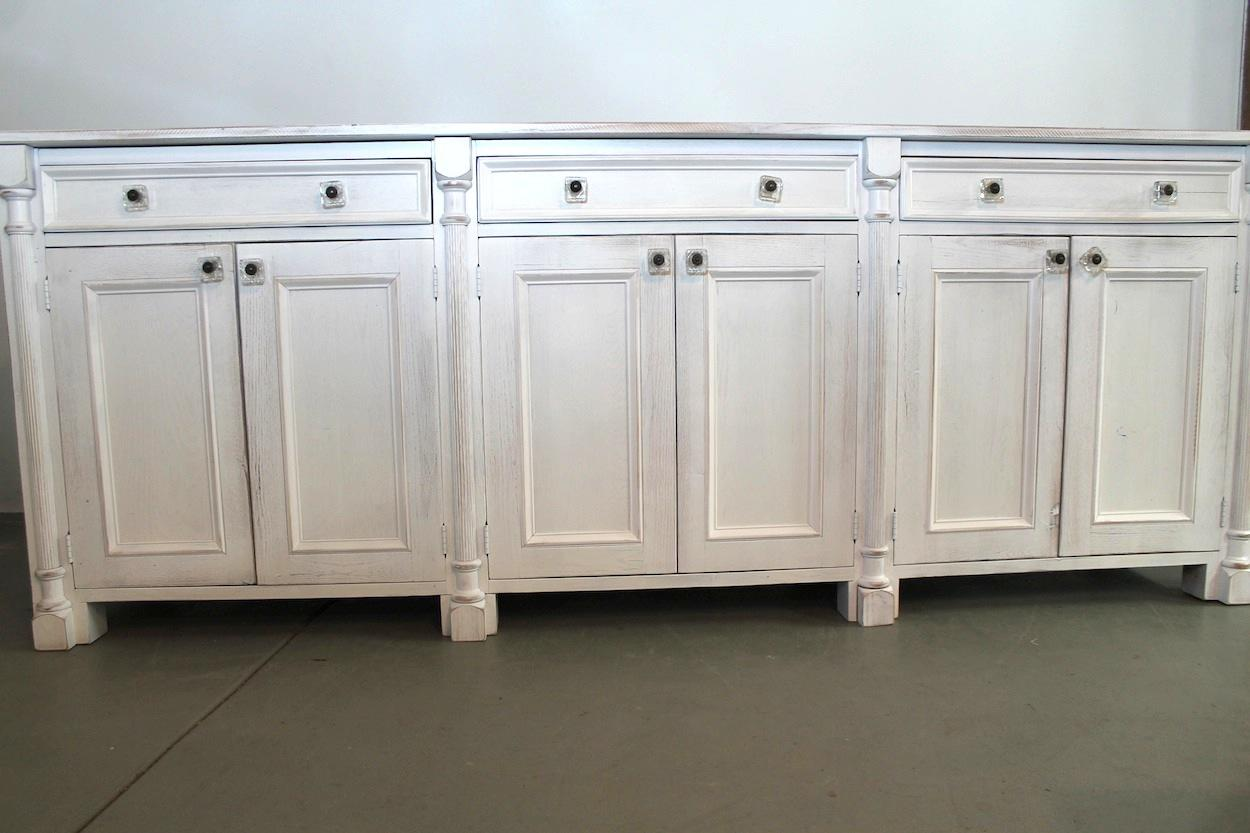 White Reclaimed Wooden Sideboard