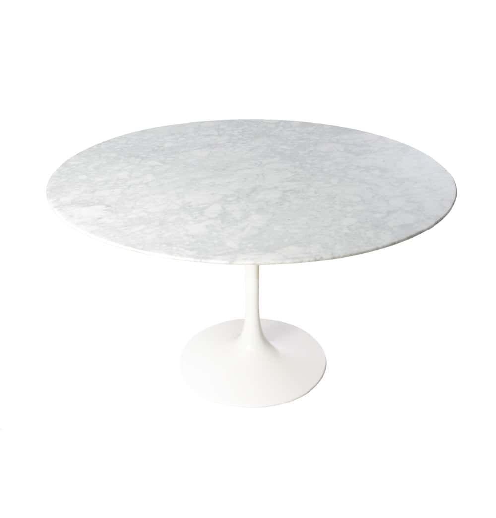 White Round Marble Dining Table