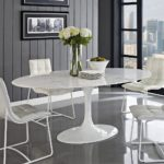 White Saarinen Dining Table