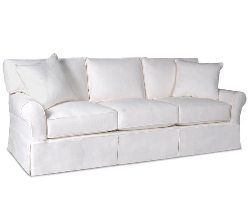 White Slipcovered Sofa Sleeper