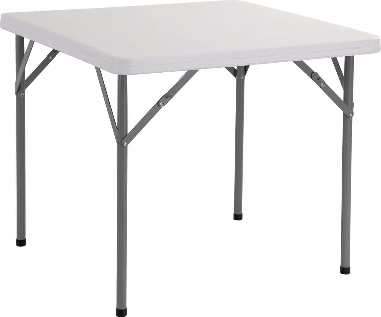 White Square Folding Table