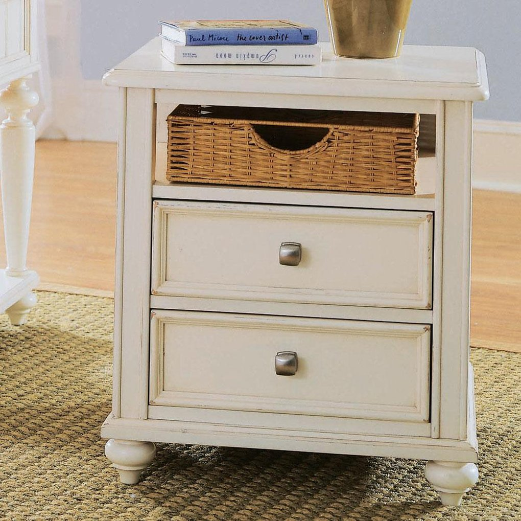 Wicker End Tables Storage