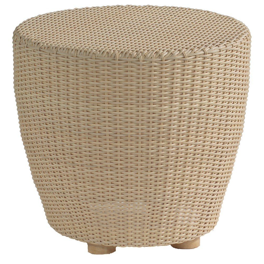 Wicker End Tables White