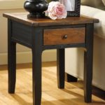 Wood End Tables With Drawers