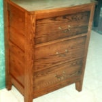 Wood Tall Narrow Dresser