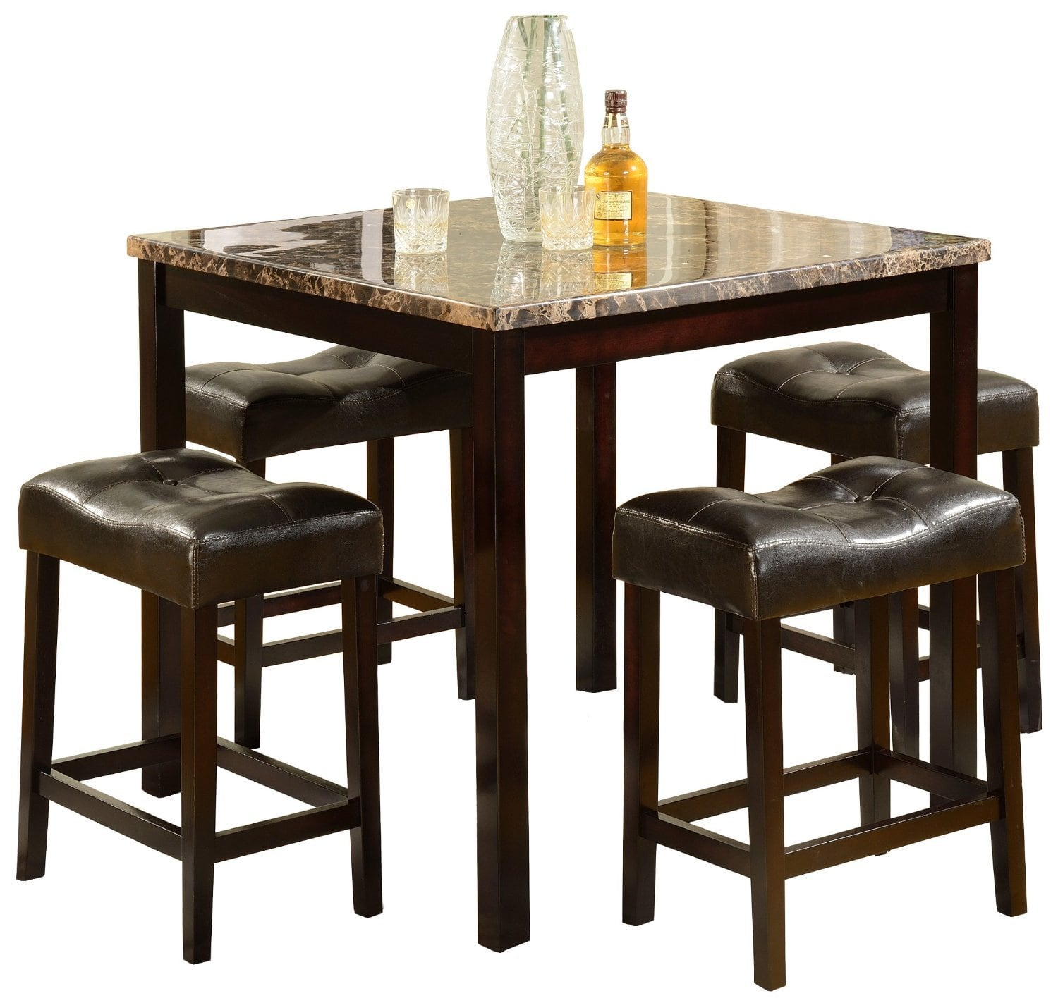 Wooden Bar Stool Table Set