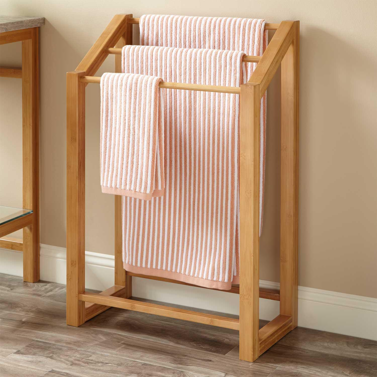Wooden Towel Rack Furniture