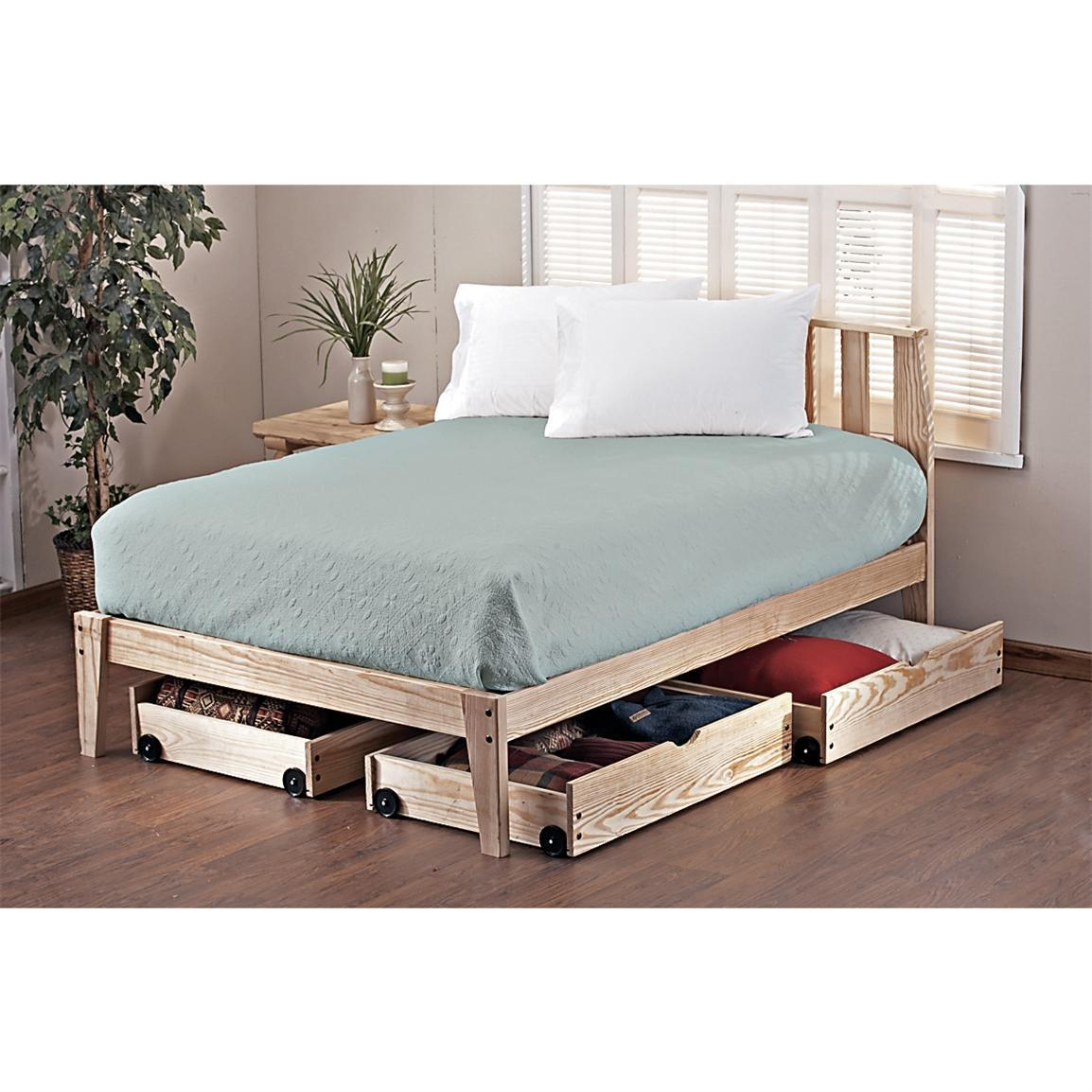 Wooden Twin Bed Frame Design