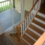 White Step Wooden Stair Treads For Sale