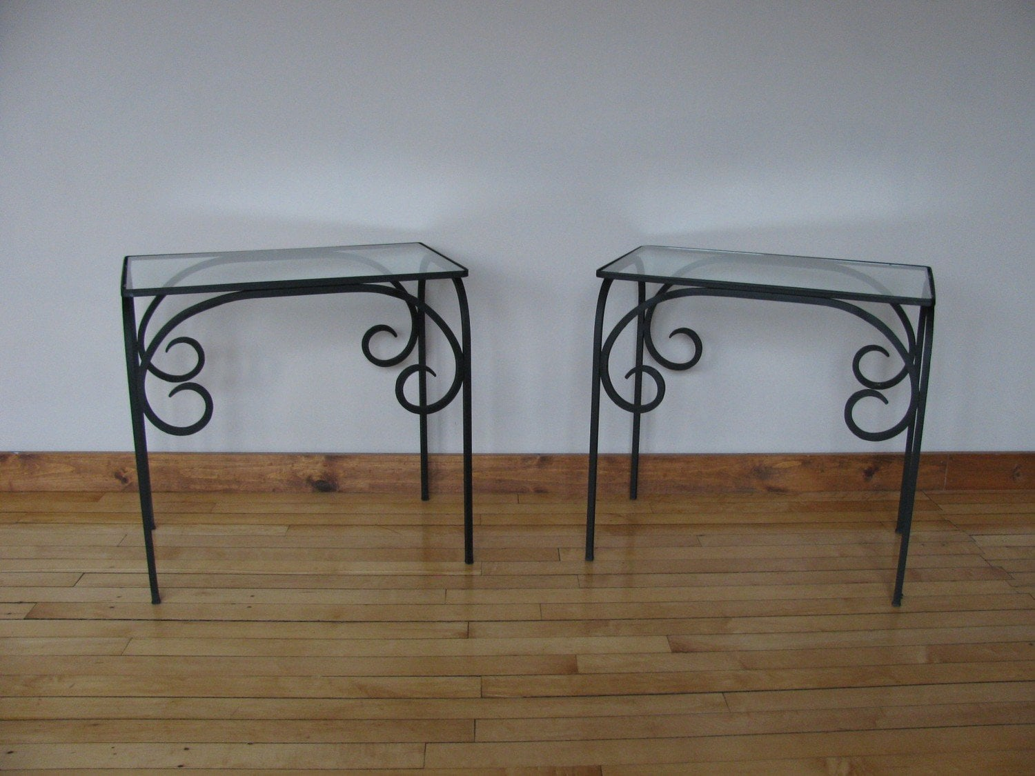 Wrought Iron End Tables Console