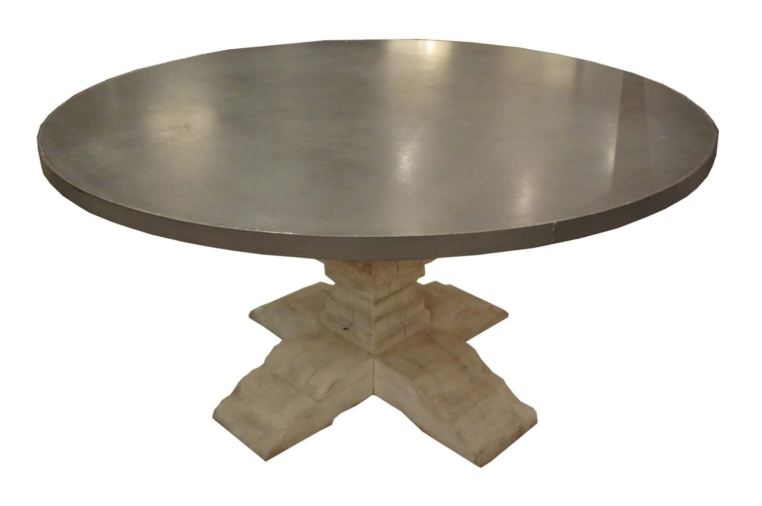 Zinc Top Dining Table Elegant