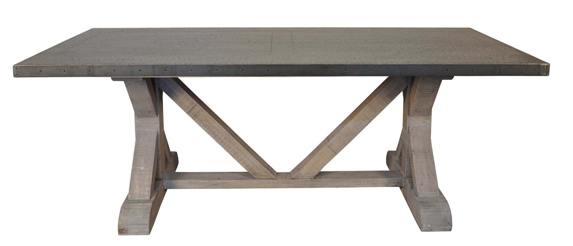 Zinc Top Dining Table Unique