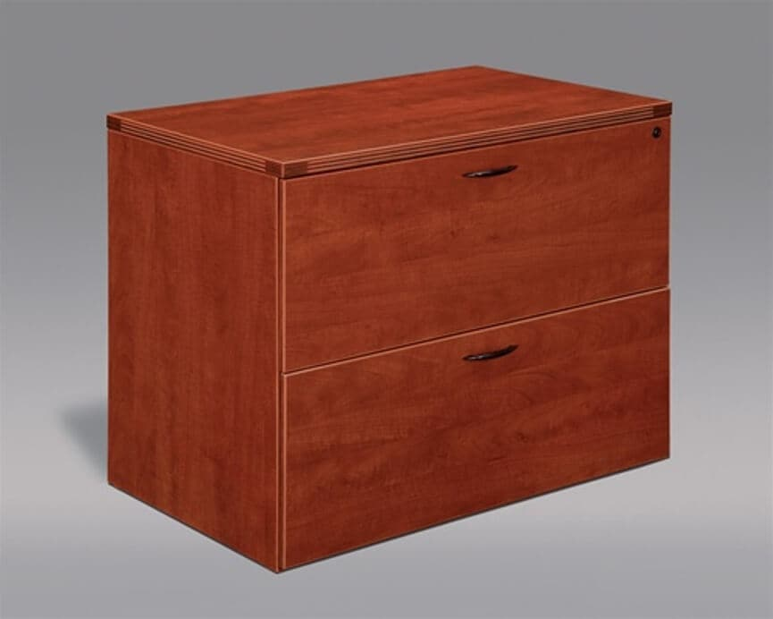 Bush Fairview 2-drawer Lateral File Cabinet Antique Black And Cherry
