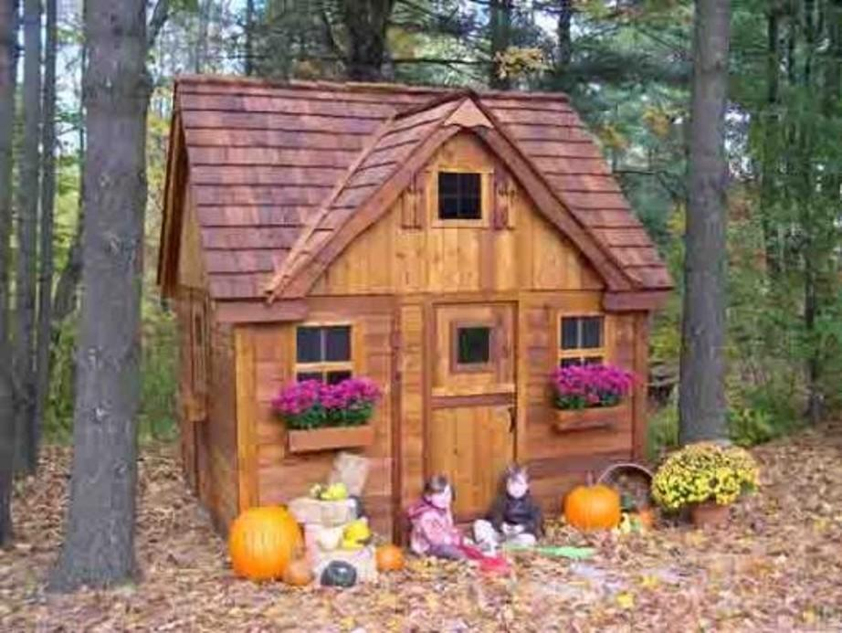 Childrens Wooden Outdoor Playhouse Uk