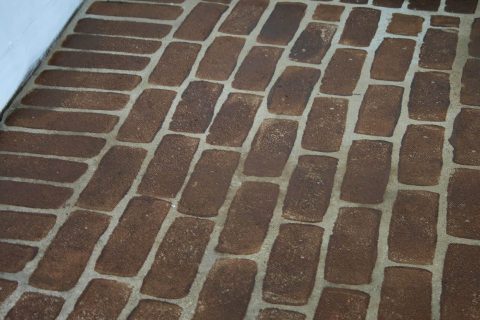 Faux Brick Flooring Patio