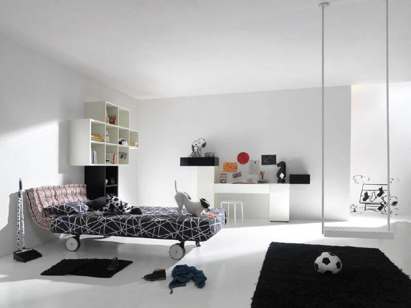 Black And White Super Modern Bedroom Design For Children
