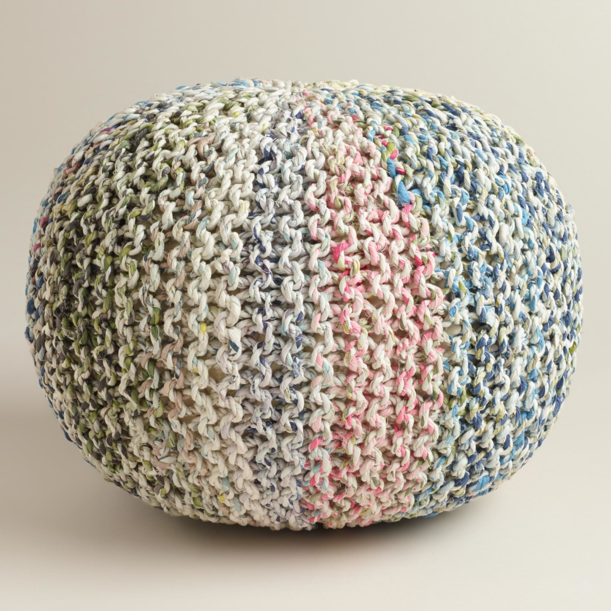 How To Make A Crocheted Flower Knitted Pouf - Loccie ...