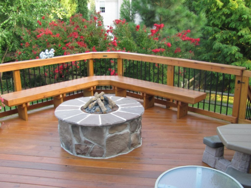 Outdoor Firepit Archadeck Charlotte How To Build Trex Decking