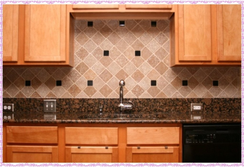 Tumbled Marble Tile Backsplash