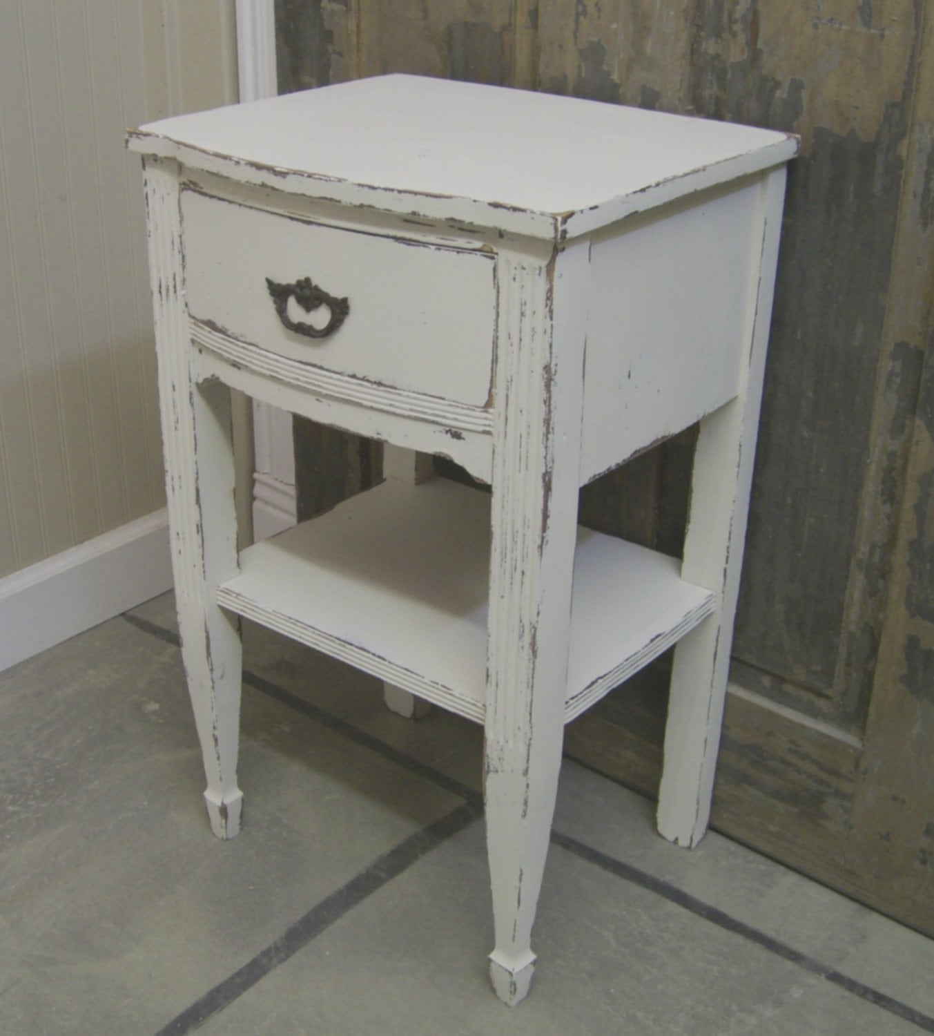 White Vintage Nightstands